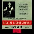 Jacques Douai Heritage - Recital N°1 & 2 - BAM (1954-1955)