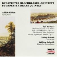 Budapester Blechbläser-Quintett Concertino for harp and brass quintet - 1. Allegretto