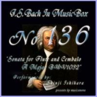 石原眞治 フルートとチェンバロの為のソナタ イ長調 BWV1032 第一楽章 ビバーチェ