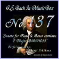 石原眞治 フルートと通奏低音の為のソナタ ハ長調 BWV1033 第三楽章 アダージョ