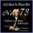 石原眞治 バッハ・イン・オルゴール173 / シンフォニア へ長調 BWV1071