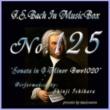 石原眞治 バッハ・イン・オルゴール125 / ソナタ ト短調 BWV1020