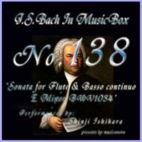石原眞治 フルートと通奏低音の為のソナタ ホ短調 BWV1034 第三楽章 アンダンテ
