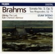 Izumi Tateno Brahms : Piano Sonata No.3 Op.5, Two Rhapsodies Op.79 - Glinka : The Lark - Suk : Chanson d'amour