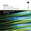 Arnold Schoenberg Chor Brahms : Lieder & Romanzen - Secular Choruses