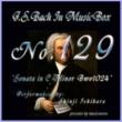 石原眞治 バッハ・イン・オルゴール129 / ソナタ ハ短調 BWV1024