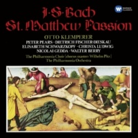 "Otto Klemperer/Philharmonia Choir/Philharmonia Orchestra St. Matthew Passion, BWV 244, Pt. 2: No. 58a, Recitative and Chorus ""Und da sie an die Stätte … Der du den Tempel Gottes zerbrichst"" (Evangelist, Chorus 1, Chorus 2)"