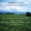 石山正明 合唱練習シリーズ15 ブラームス/ドイツ・レクイエム Op. 45 (バス2パート用)