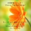 石山正明 合唱練習シリーズ1 モーツァルト/戴冠式ミサ K. 317 (テノールパート用)