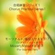 石山正明 合唱練習シリーズ1 モーツァルト/戴冠式ミサ K. 317 (ソプラノパート用)