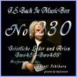 石原眞治 バッハ・イン・オルゴール230 /宗教的歌曲とアリア BWV459からBWV468