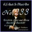 石原眞治 バッハ・イン・オルゴール233 /宗教的歌曲とアリア BWV489からBWV498