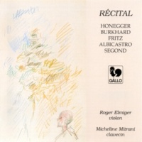Roger Elmiger Sonata for Solo Violin in D Minor, H 143: II. Largo