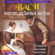 Christiane Jaccottet Bach Inventions And Sinfonias, BWV 772 - 801