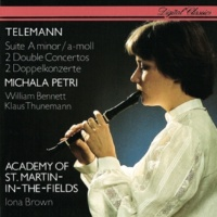 Michala Petri/William Bennett/Klaus Thunemann/Academy of St. Martin in the Fields/Iona Brown Telemann: Recorder Suite; 2 Double Concertos