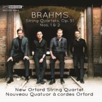 New Orford String Quartet Brahms: String Quartets, Op. 51 Nos. 1 and 2