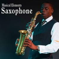 Sound Ideas Baritone Saxophone Plays a Short Roll Accent