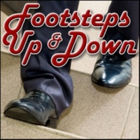 Sound Effects Library Footsteps, Outdoor - Wood Porch Stairs: Men's Business Shoes: Walk Across Porch and Down Steps, Wood Footsteps, Male Footsteps