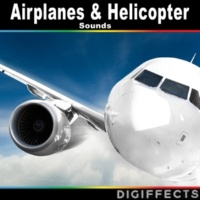 Digiffects Sound Effects Library Distant Airport with Airplanes Warming up and Overhead