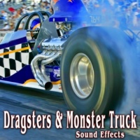 The Hollywood Edge Sound Effects Library Several Monster Trucks Revving by and Racing Through Obstacle Course Take 1