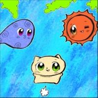 ヌミャーン 猫と葉っぱと太陽と風