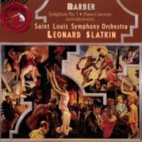 Leonard Slatkin Barber: Symphony No. 1/Piano Concerto/Souvenirs
