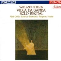 Wieland Kuijken Viola da Gamba Solo Recital