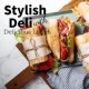 Relaxing Guitar Crew Stylish Deli with Delicious Lunch