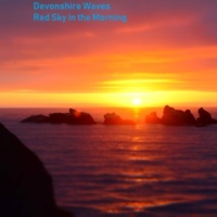 Devonshire Waves Red Sky in the Morning