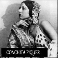 Conchita Piquer Con Divisa Verde y Oro